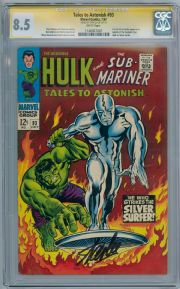 Tales To Astonish #93 CGC 8.5 Signature Series Signed Stan Lee Hulk Silver Surfer Marvel comic book